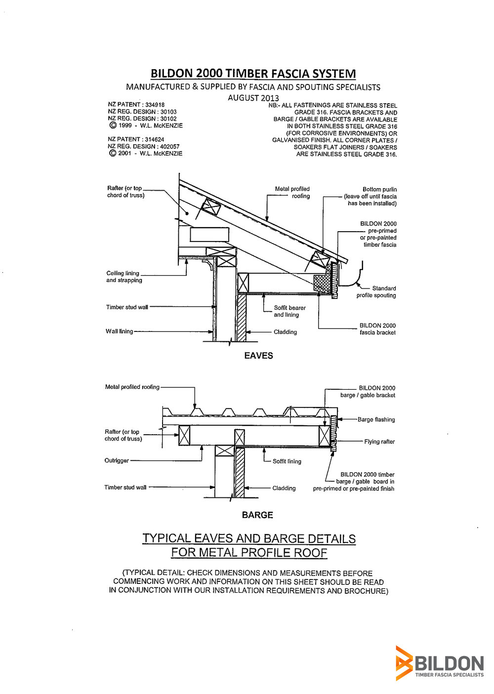 Technical Specs of Timber Fascia Systems Bildon