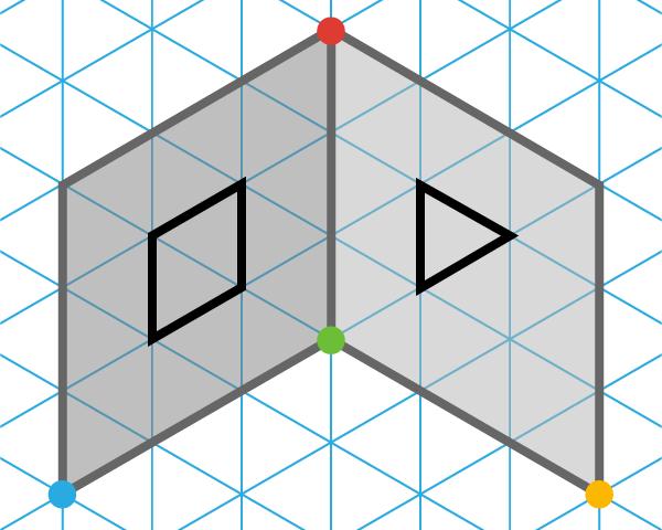 Folded flat pattern.