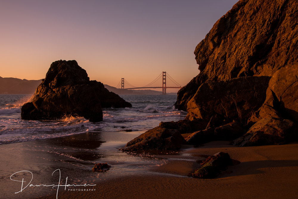 China Beach - Golden glow at twilight