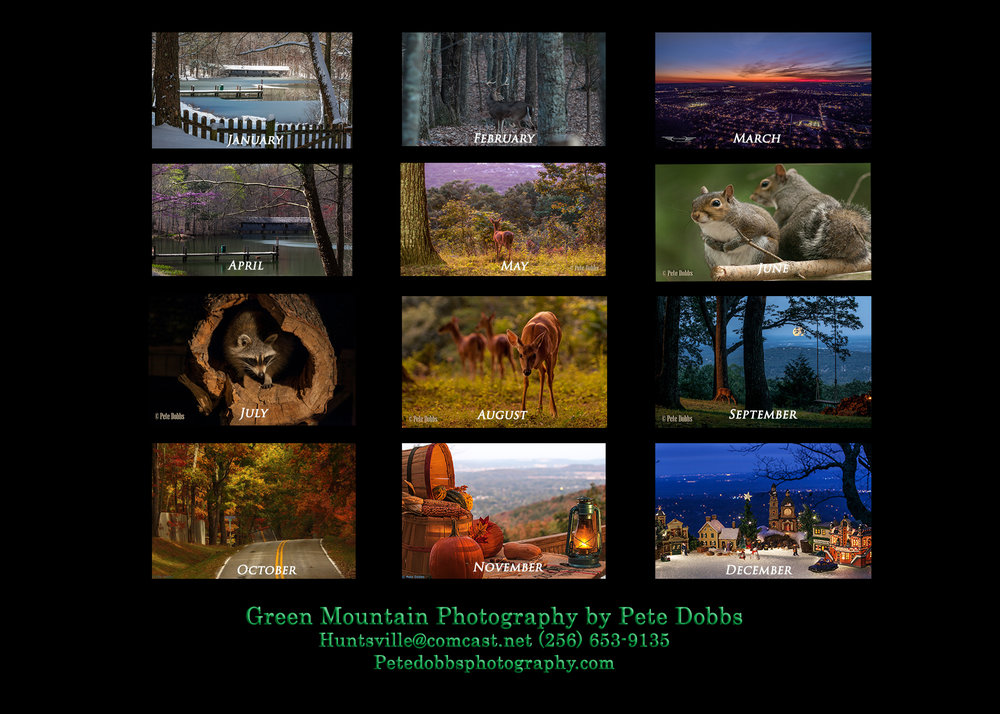 The 2018 Green Mountain Calendar was yet another wonderful success... the 2019 calendar available soon. -
