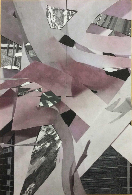 """her scraps"", digital photo, collage, paper construction"
