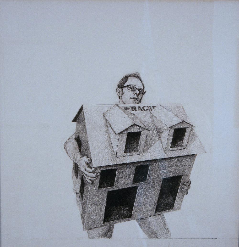 Fragile, graphite on paper, 12x14
