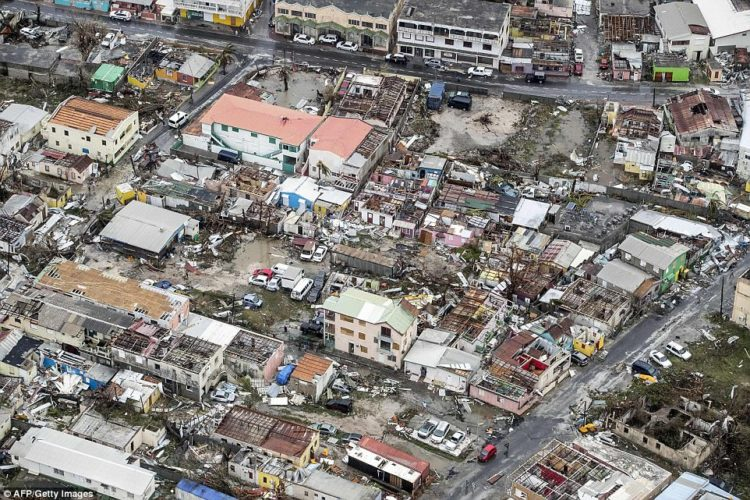 95% of the island of St. Martin has been destroyed by Hurricane Irma.