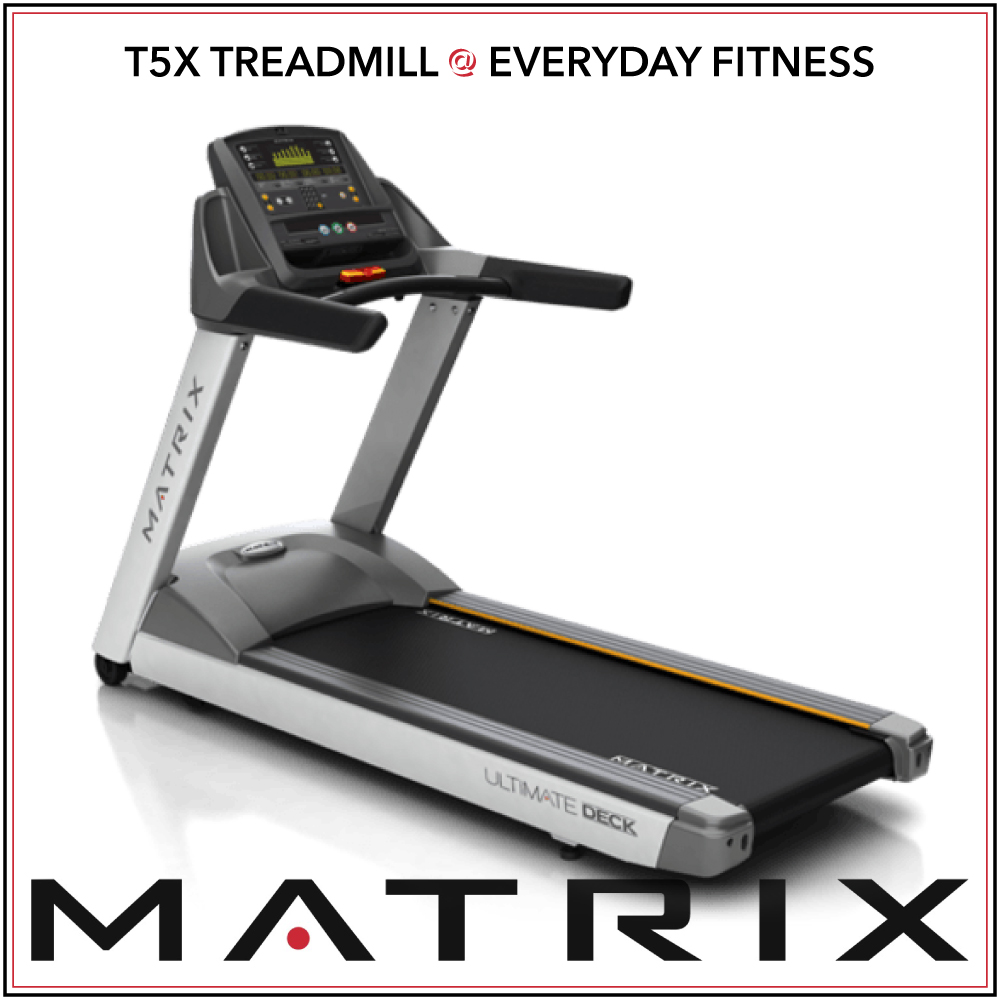 T5x treadmill - LED console display offers intuitive operationWiFi connectivity accommodates optional Matrix Asset Management system and Workout Tracking NetworkCompatible with xID single-point user sign-in for a seamless personal experienceSprint 8 High Intensity Interval Training programRFID compatible to provide touch-free loginUSB port offers charging for most smartphones and tabletsIntegrated 3-speed personal fanCrossbar speed and incline controls make adjustments quick and easyUltimate Deck System for superior performance and durability