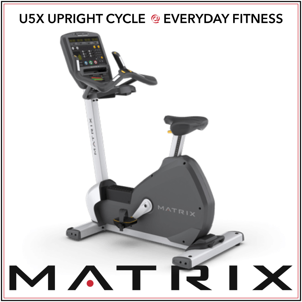 U5x Upright Cycle - LED console display offers intuitive operationWiFi connectivity accommodates optional Matrix Asset Management system and Workout Tracking NetworkCompatible with xID single-point user sign-in for a seamless personal experienceSprint 8 High Intensity Interval Training programRFID compatible to provide touch-free loginUSB port offers charging for most smartphones and tablets3-speed personal fanIntuitive one-hand adjustment fine-tunes seat positionRace-inspired handles provide a comfortable ride experienceStep-thru entry for easy access