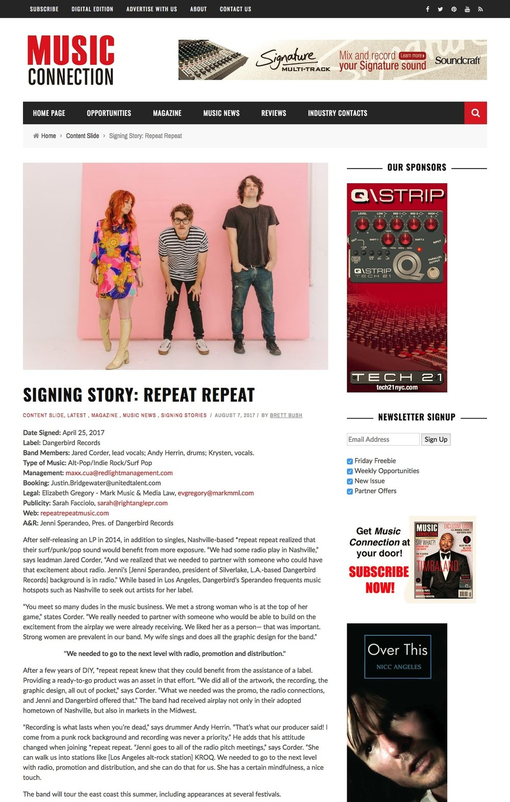 Music Connection magazine - Signing Story *repeat repeat.jpg