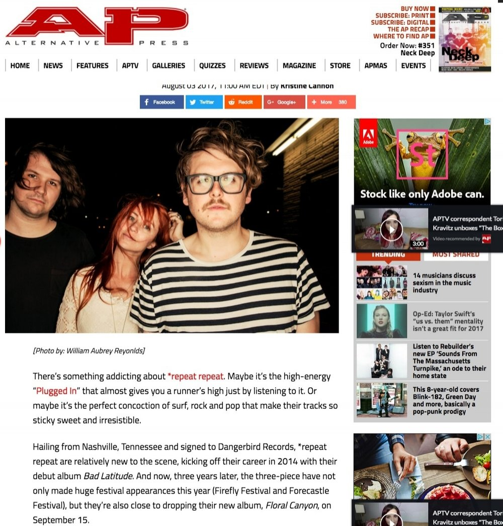 """AP - Meet surf rock candy band  repeat repeat and listen to new song """"Girlfriend""""   Features   Alternative Press.jpg"""