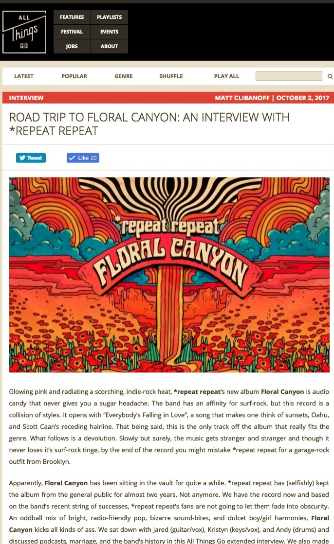 Road Trip to Floral Canyon  An Interview with  repeat repeat   All Things Go.jpg