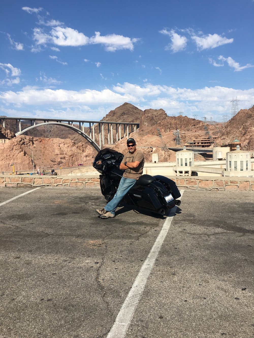 Marc purchased his new Road Glide Ultra from Southeast Custom Cycles and is out enjoying it at the Hoover Dam.