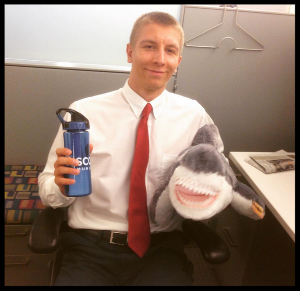 Celebrating Shark Week at Discovery Communications.