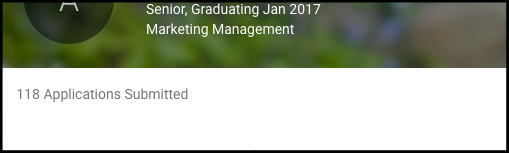 This image is from my College job board profile.