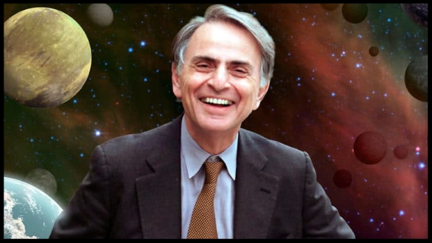 Carl Sagan achieved worldwide recognition as an advocate for science education with his television series,  Cosmo.