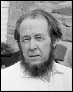 Author Aleksandr Solzhenitsyn.