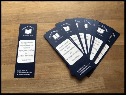 Get these cool bookmarks by visiting the  A&B shop !