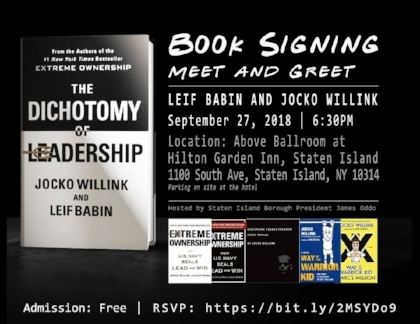 The book signing image Jocko tweeted out.