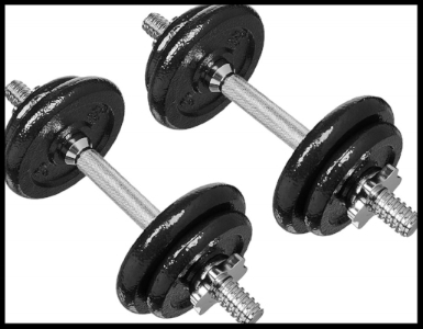 You can get dumbbells like these for about $50 (link).