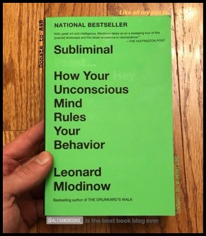 "My copy of the book ""Subliminal."" (No hidden messages here folks…)"