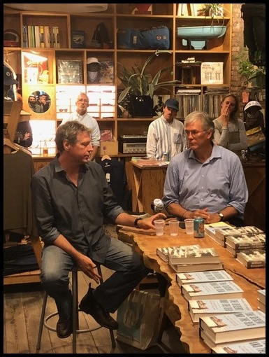 Author event with Michael Scott Moore (left), who was held captive by Somali pirates for almost three years.