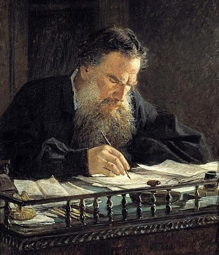 Portrait of Leo Tolstoy ( source ).