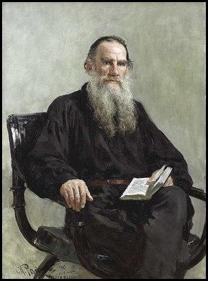 Portrait of Tolstoy, 1887 ( source ).