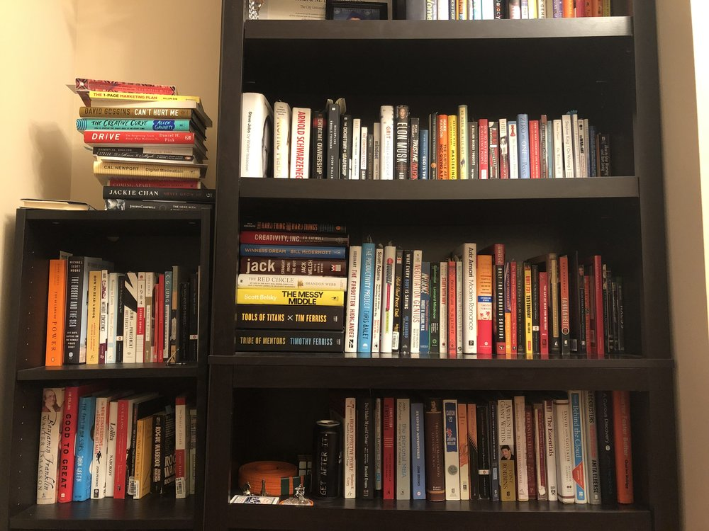 My ever growing library.