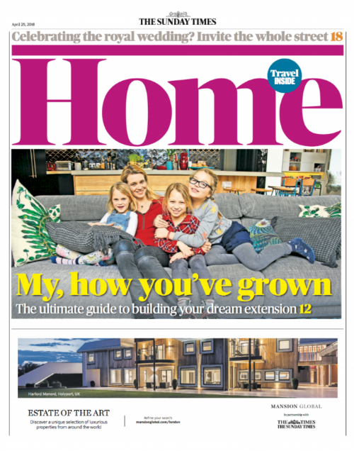 THE SUNDAY TIMES  Our top tips were shared in The Sunday Times ultimate guide to building your dream extension.
