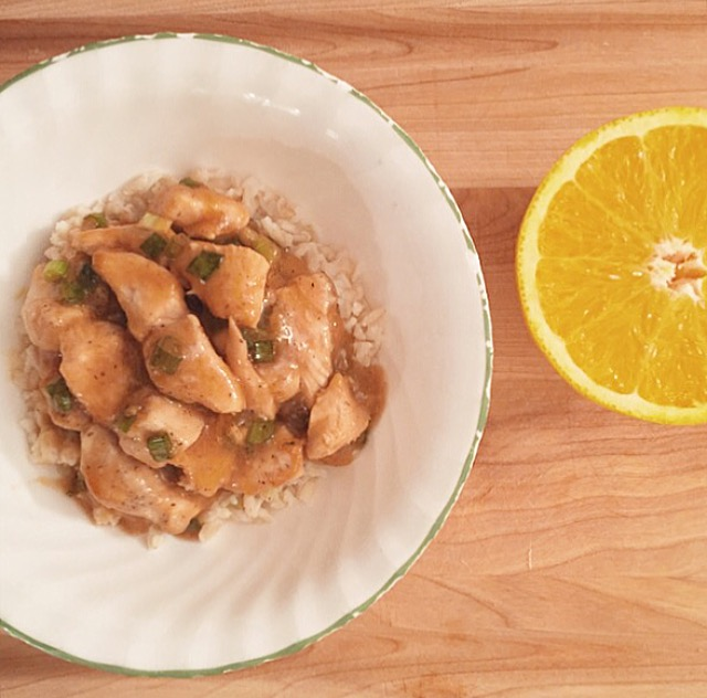 Orange Chicken & Brown Rice