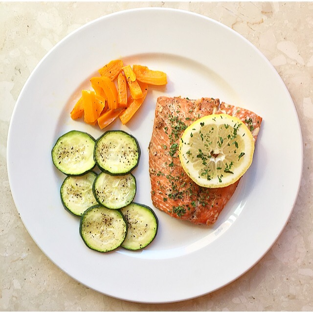 Easy Baked Salmon and Veggies
