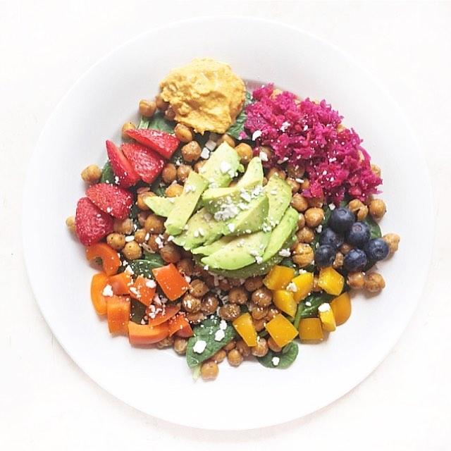 Rainbow Spring Salad