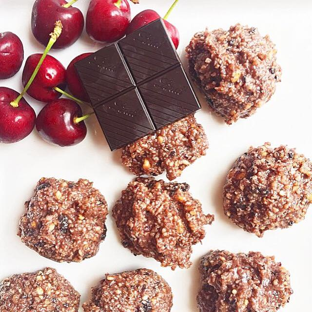 Chocolate Cherry Coconut Clusters