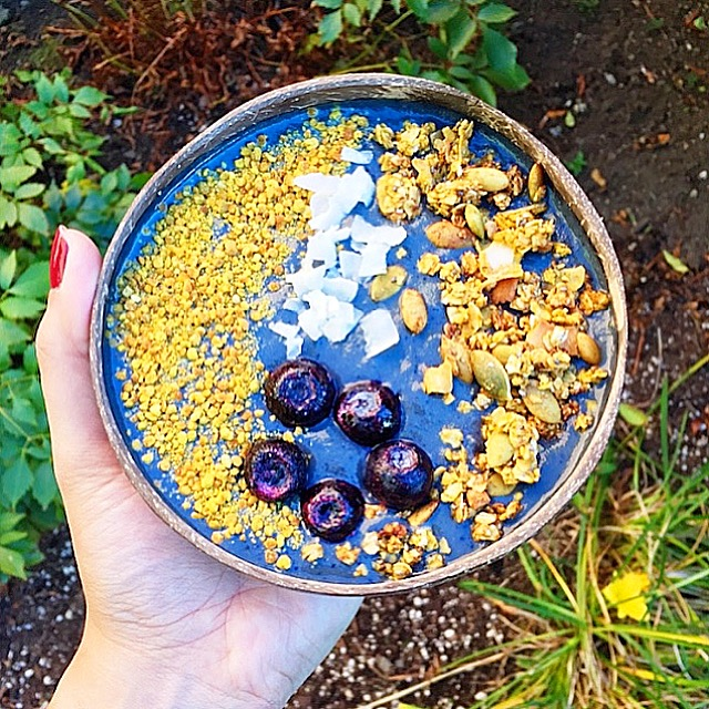 Purple Plant Powered Smoothie Bowl
