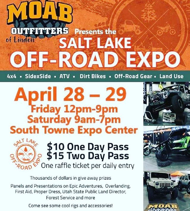 Find us here this weekend! Get your custom order in and come meet our team!  #saltlakeoffroadexpo #offroad #offroading #offroadgear #offroad4x4 #moaboutfitters