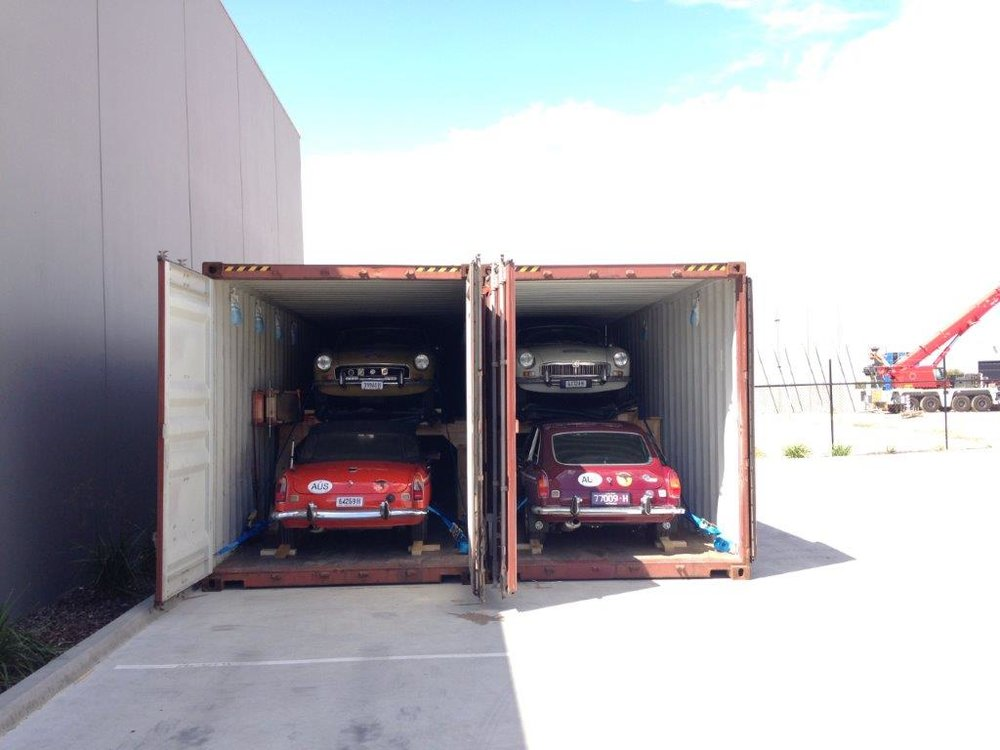 Containers all packed and ready to lock.