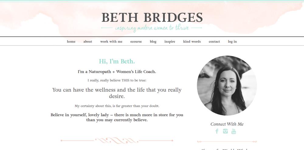 Life Coach and E-Course    (Beth Bridges)