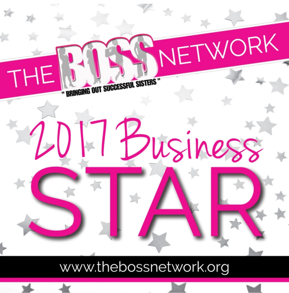 Excited & Honored to be recognized byThe BOSS Network!! - Read full list of 2017 business stars here: http://bit.ly/2BU4YGB