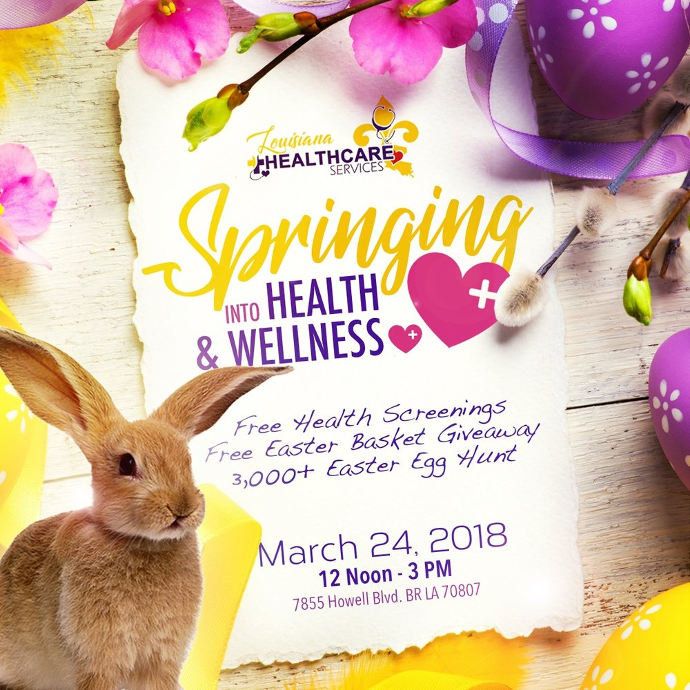Community Easter Egg Hunt & Basket Giveaway    Saturday, March 24, 2018