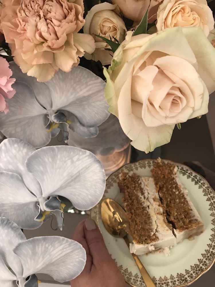 Beautiful blooms and divine cake match made in heaven