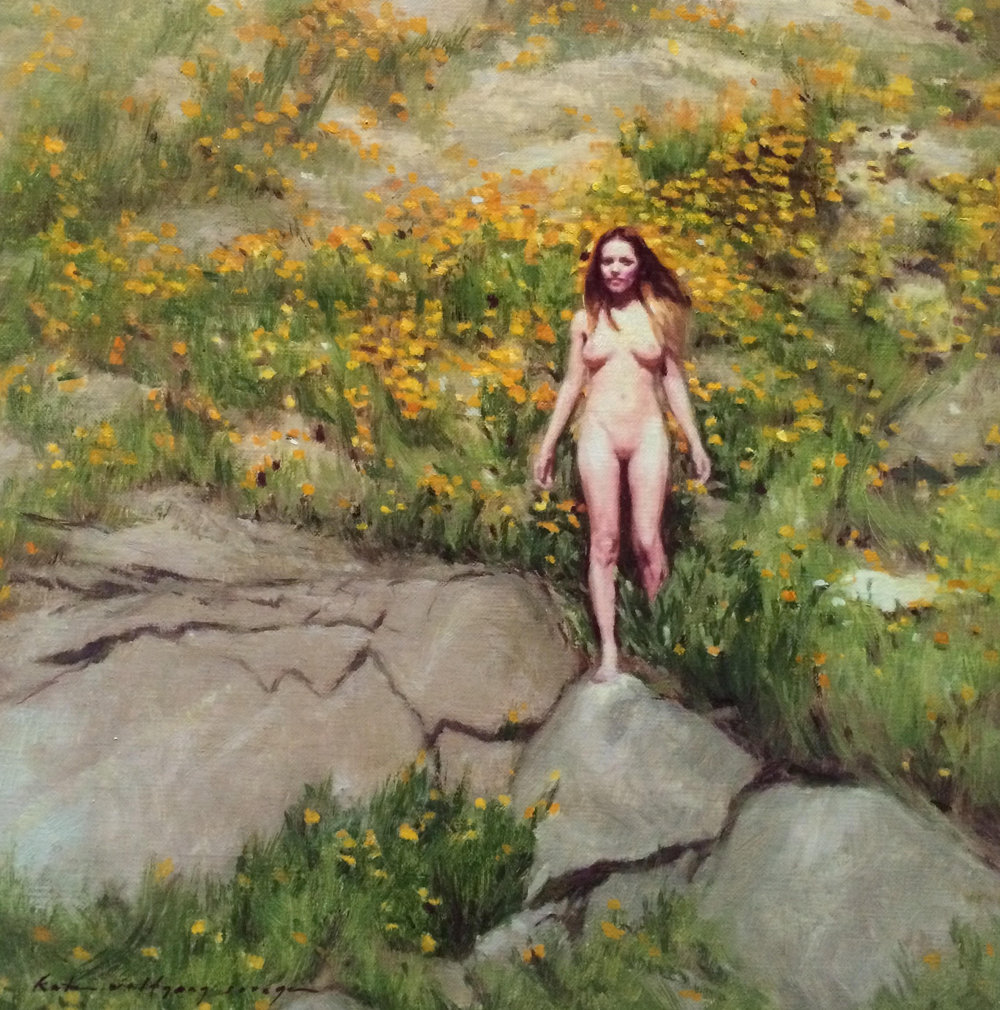 Garden of Eden  , oil on linen panel, 12 inches x 12 inches, 2014