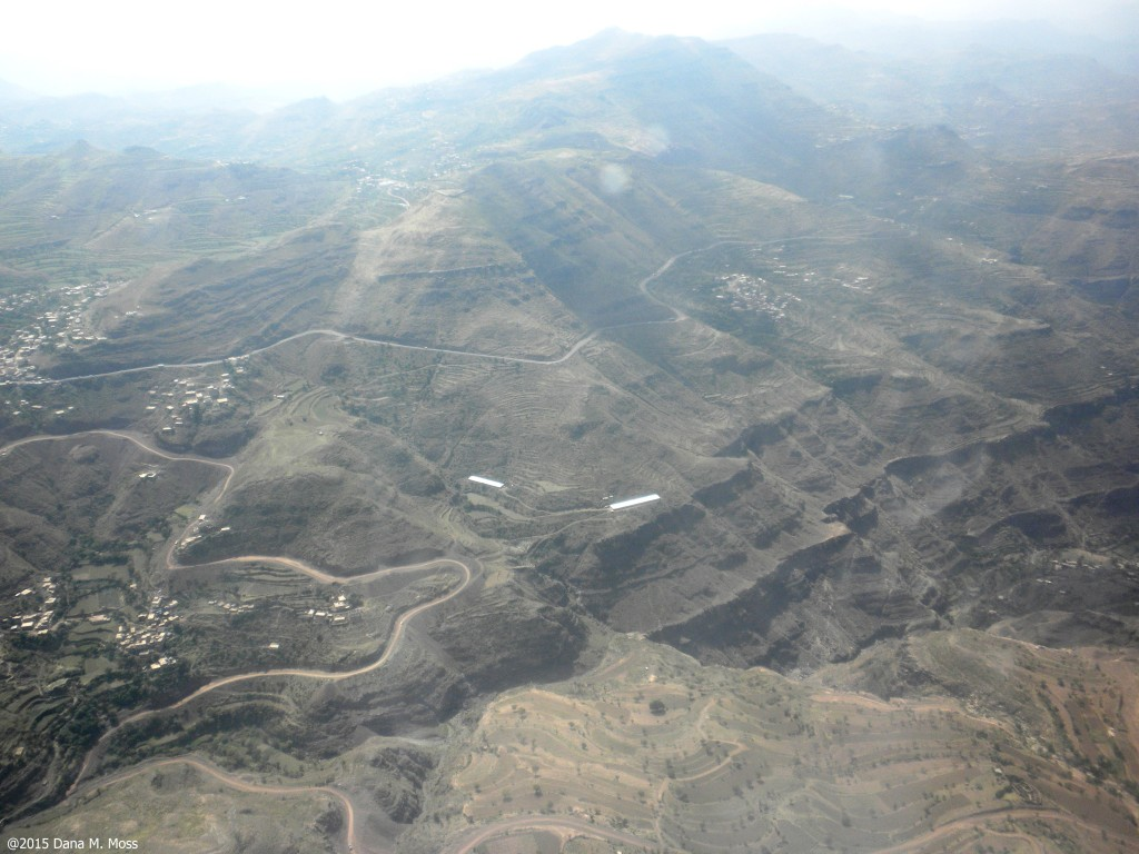 Central Yemen seen from the air