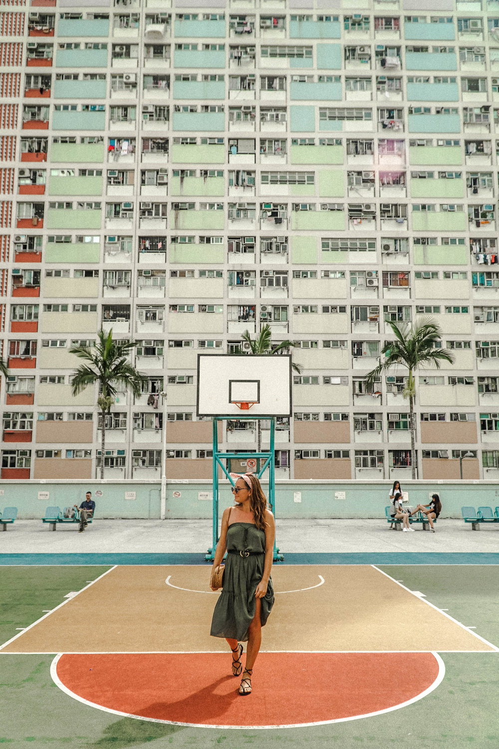 This one isn't a tourist attraction, but it is popping up all over peoples Instagram feeds. You will find this spot in Choi Hung Estate.