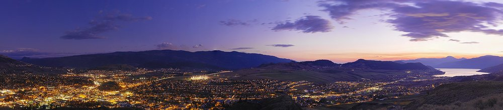 Sunset over Vernon, BC in the Okanagan Valley -- a perfect destination for Tesla owners.