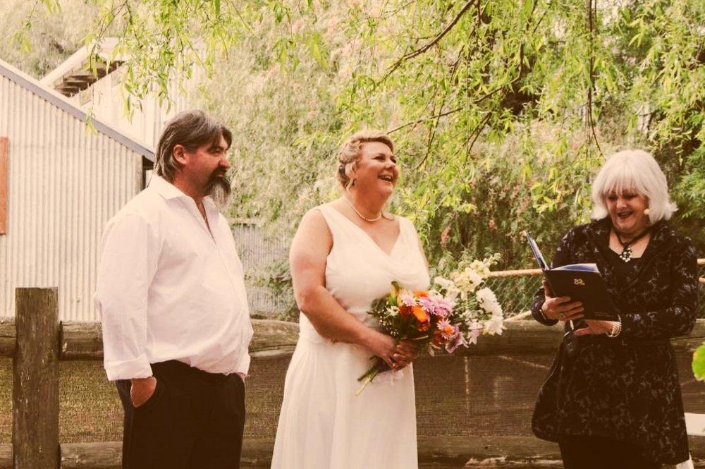 Scott and Christina enjoying their SIMPLE ceremony