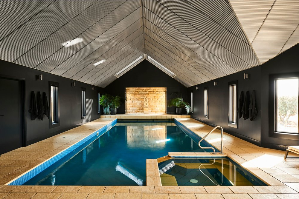 Lon Retreat's heated pool