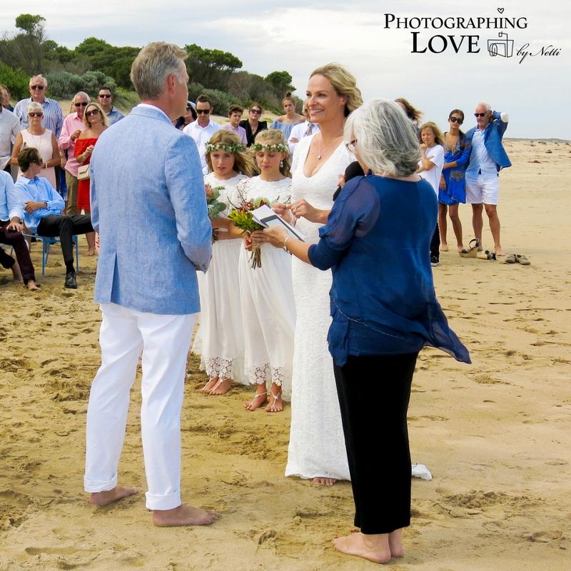 Barefeet Bliss - Ange & Brett at Raffs Beach, Ocean Grove/Barwon Heads.   Photography by Photographing Love