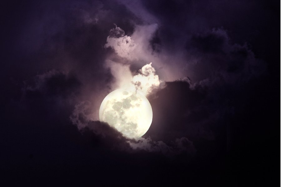 full moon dark scorpio cloudy cloud