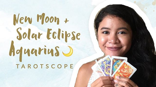 It's been a while since I made my last Tarotscope (Tarot + Horoscope) content, so I'm really excited for you guys to watch this one! In this video, I'm talking about the latest New Moon & Solar Eclipse in Aquarius 2018 and how it's going to affect your sign. If horoscope forecast is your jam, this is definitely the video for you!  Let me know what you guys think about it! Should I make another Tarotscope video like this one again? ❤️ Watch it via link on bio kk 🌝🙏🏼