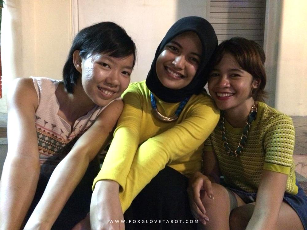 Left - Right: Yoke Wen, Syifa Adriana, and me back in 2014