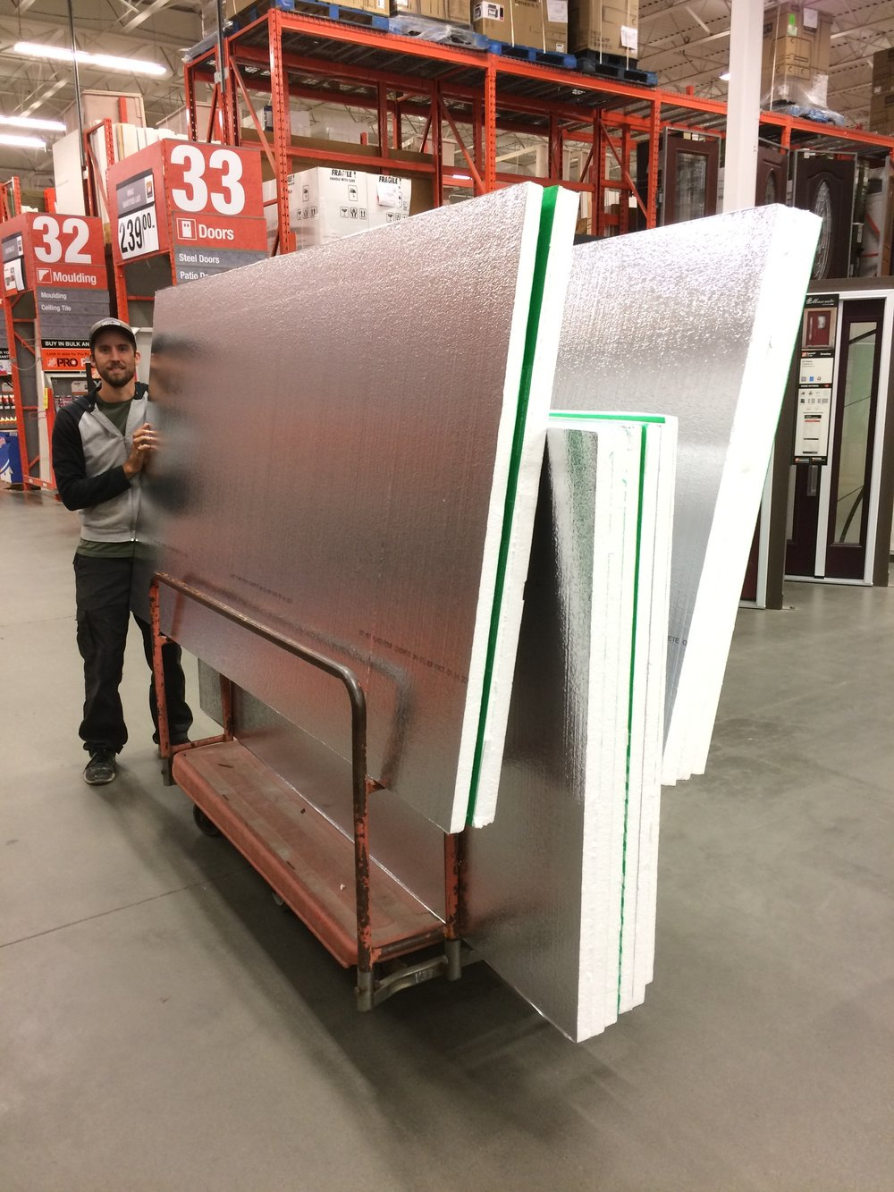 Scott can barely contain his excitement for Durofoam.