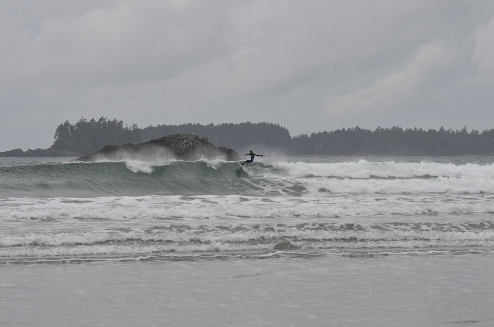 Scott frothing over some Vancouver Island weather.
