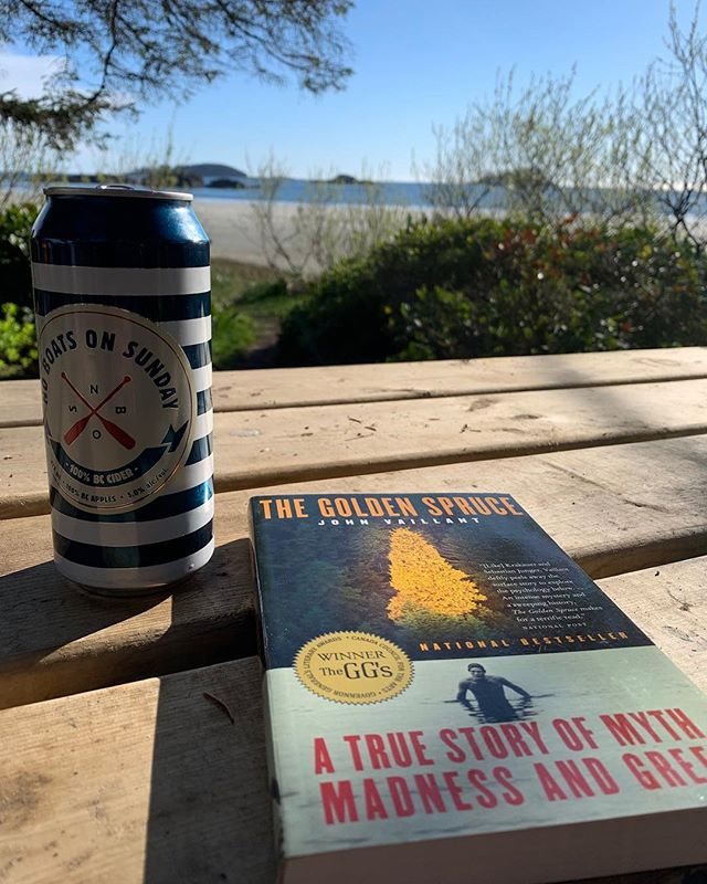 Not a bad way to spend a Monday afternoon! Who out there has read the Golden Spruce?